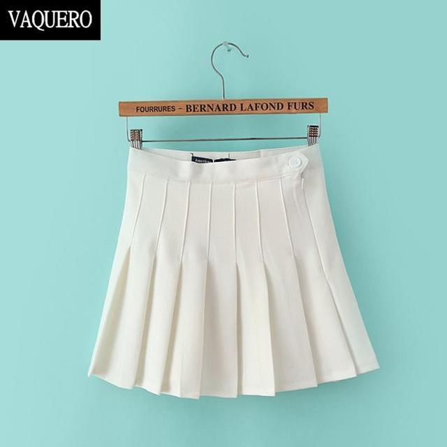b49f401914e7a American Apparel High Quality Twill Women Skirts 2016 Summer New Empire  Mini High Waist Pleated Skirt For Girl 1133