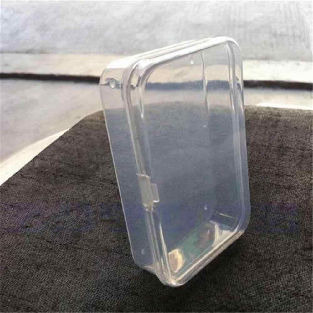 1x Mini Durable Coleção Colar de Jóias Recipiente De Armazenamento De Plástico Transparente Com Tampa Titular Caixa Caso Organizador Ofício