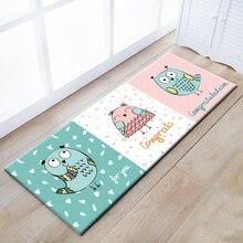 Multi-función de búho de dibujos animados colchoneta para la cocina, estera de puerta, niños lindos carpet, decoración alfombra de suelo para childrenroom