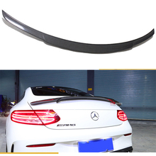 цена на For Mercedes C Class W205 Spoiler Carbon Fiber Rear Trunk Spoiler wing C200 C250 C300 C180 C350 Coupe 2015 - UP (coupe only)
