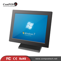 Free Shipping Metal Gray Pos All In One 15 Inch Touch Screen Terminal With Wifi Applying