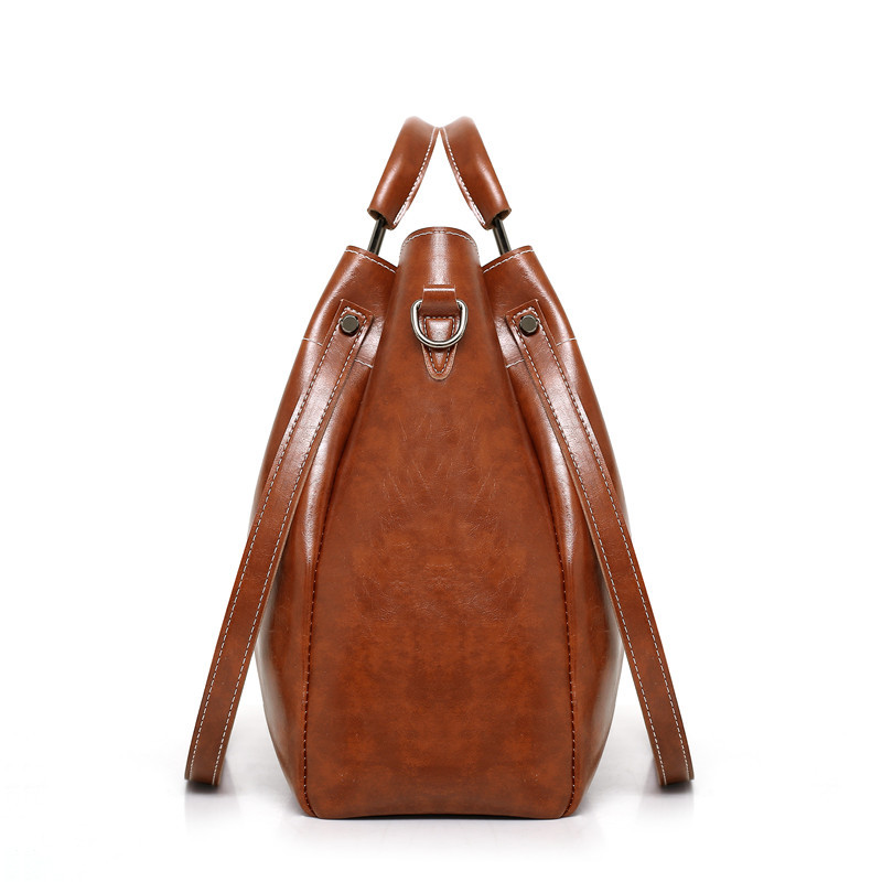 ebbd879284 Women s Handbag Large Capacity Casual Tote Bag Soft Leather Handbags Female  Pu Leather Shoulder Bags with Purse Bolsa Feminina-in Top-Handle Bags from  ...
