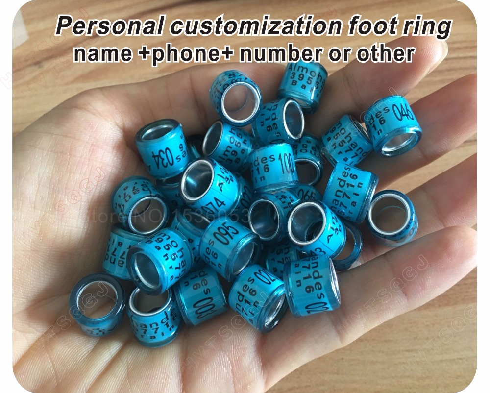 Ic/id Card Personal Customization Pigeon Rings Bird Ring Leg Rings Identify Dove Bands 8mm Plastic Aluminium Rings