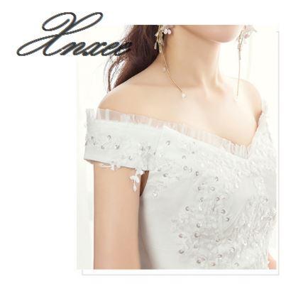 Sukienka 2019 nowe słowo na ramię proste slim odchudzanie biała sukienka w Suknie od Odzież damska na  Grupa 2