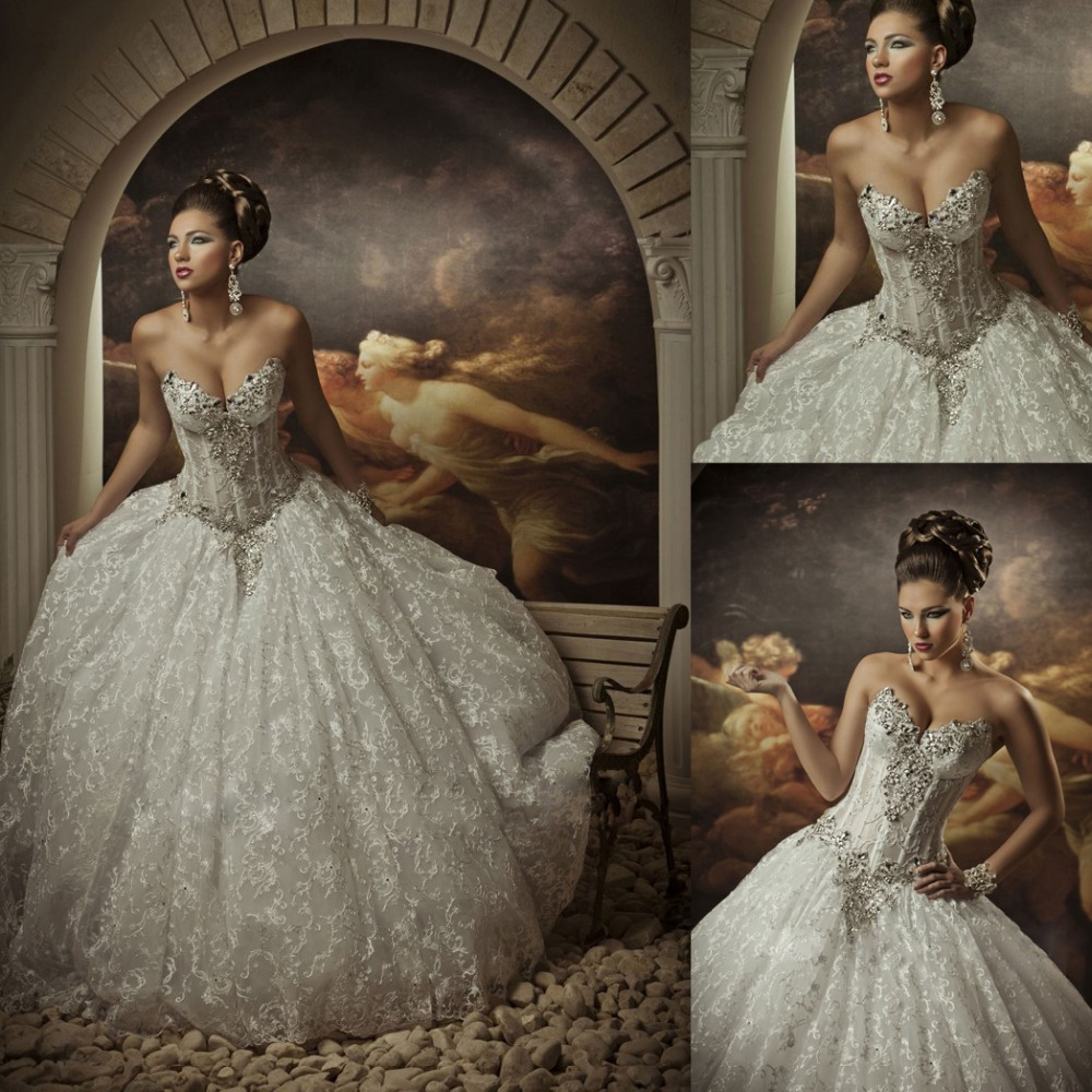 Online buy wholesale bling corset wedding dresses from for Sexy corset wedding dress