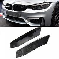 Стайлинга автомобилей углеродного волокна М Производительность передний верхний бампер сплиттер для губ для BMW F80 M3 F82 F83 M4 2013 UP