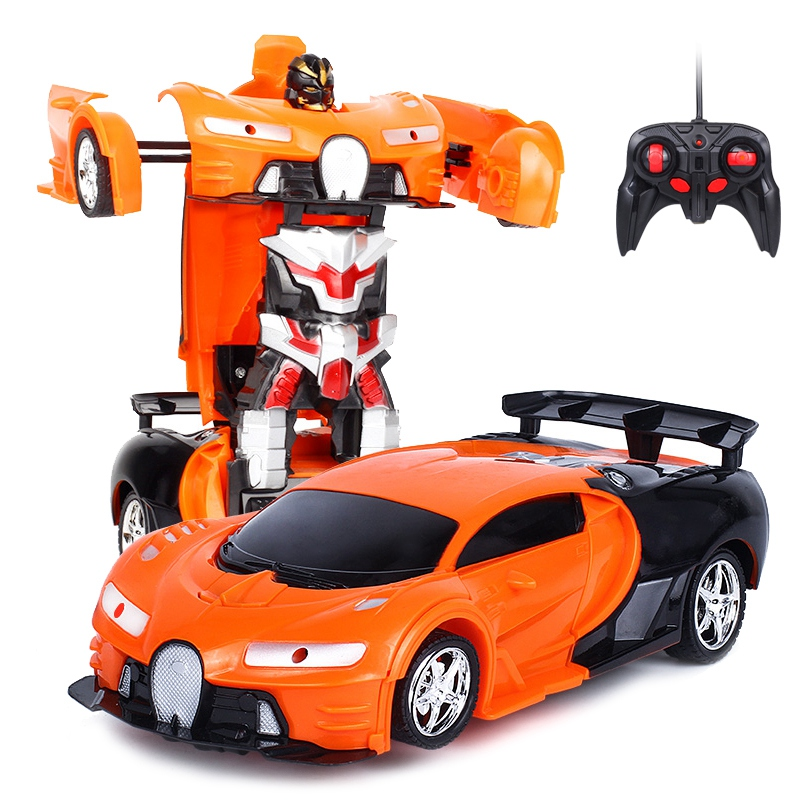 2 In 1 RC Car Sports Car Transformation Robots Models Remote Control car Toy Kids toys for children