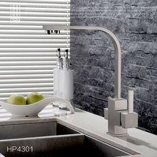 HPB Latão Cromado Escovado Polido Duas Funções Misturador Pia Da Cozinha Filtro de Torneira 2 Furos Torneira torneira de Água Potável HP4301