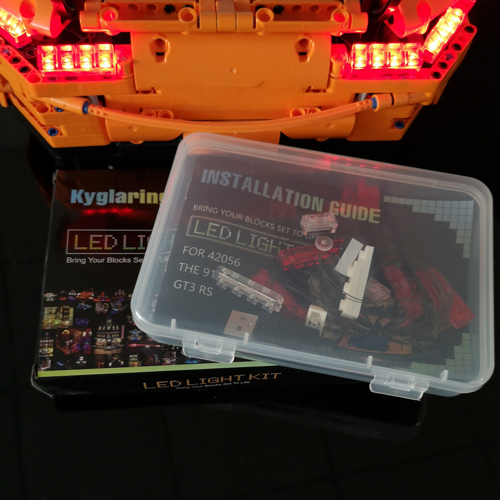 LED Light Kit For lego Technic 911 rs car Compatible With 42056 and 20001