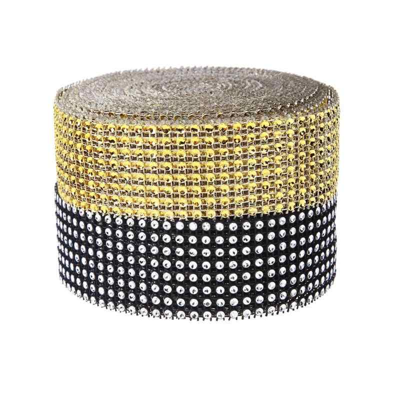10 Yards 8 Rows Bling Diamond mesh Wrap Ribbon Sparkle Rhinestone Mesh Roll  Tape Tulle Crystal 576a1df80567