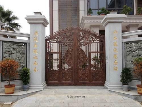 Home Aluminium Gate Design / Steel Sliding Gate / Aluminum Fence Gate Designs Hc-ag19