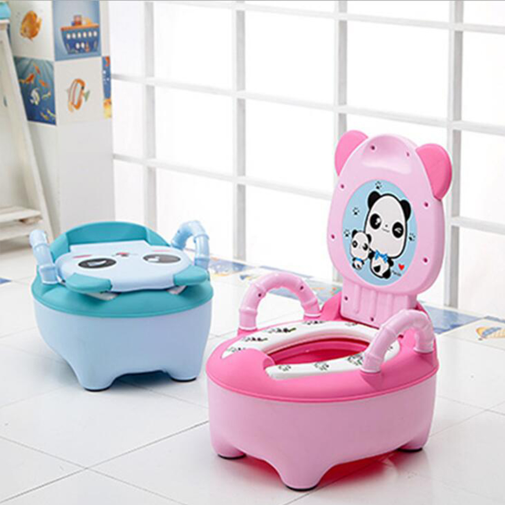 Baby Pot For Children Boys Potty Toilet Seat Baby Potty Training Girl Portable Toilets Bedpan Comfortable Backrest Cartoon Pots earrings