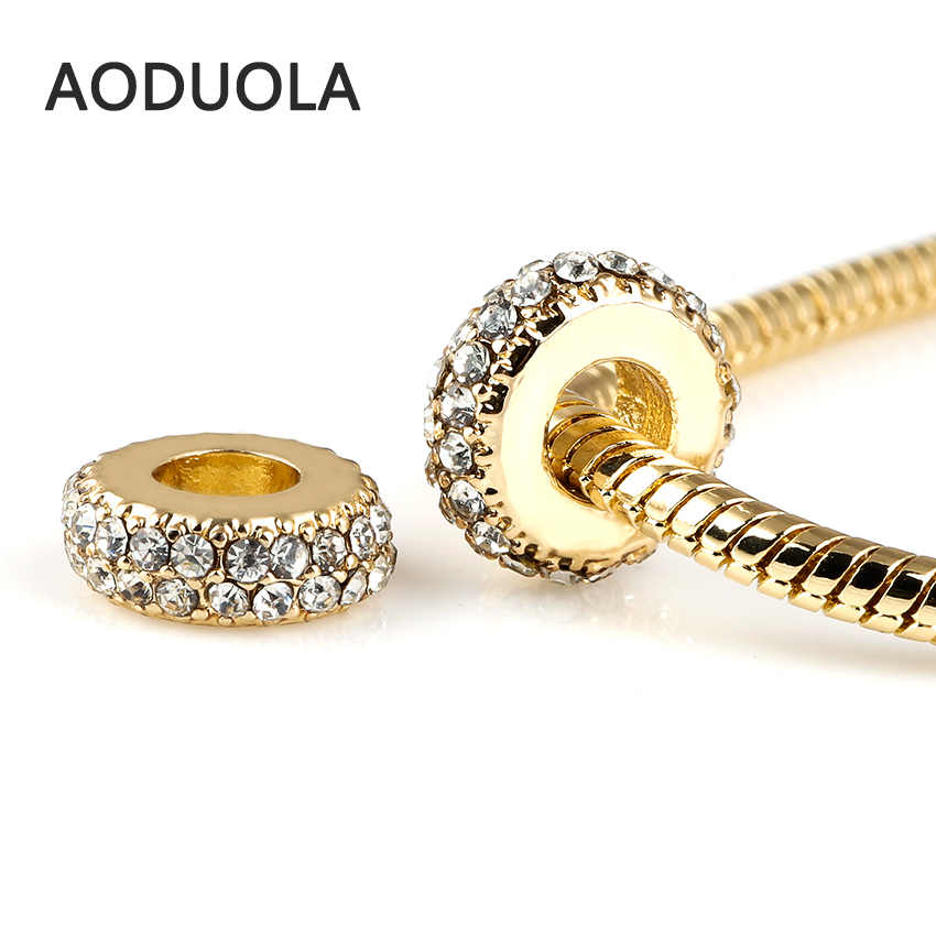 ... 10 Pcs a Lot Gold-Color Round Crystal Spacer Beads for Jewelry Making  With rhinestone ... a0671860bc01