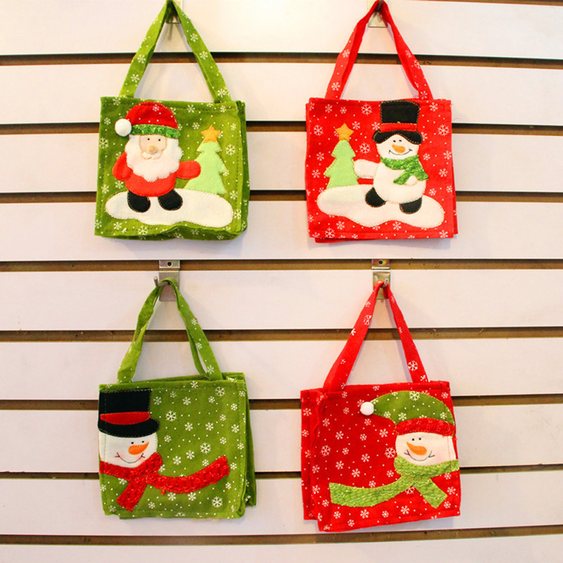Christmas Handle Bag Christmas Tree Decoration Santa Claus Kids Candy Bag  Home Party Decor Gift To Children In Stockings U0026 Gift Holders From Home U0026  Garden ...