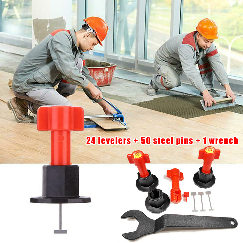 75 Pcs Reusable Anti-Lippage Tile Leveling System Locator Tool Ceramic Floor Wall #3