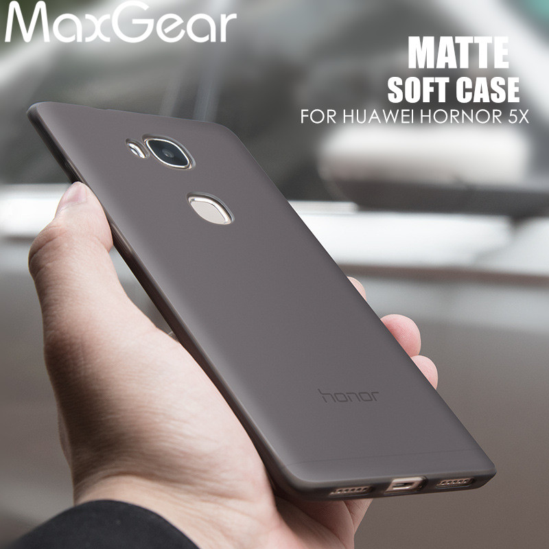 Maxgear Phone-Cases Housing Huawei Honor Matte-Design Full-Protection Soft-Silicone