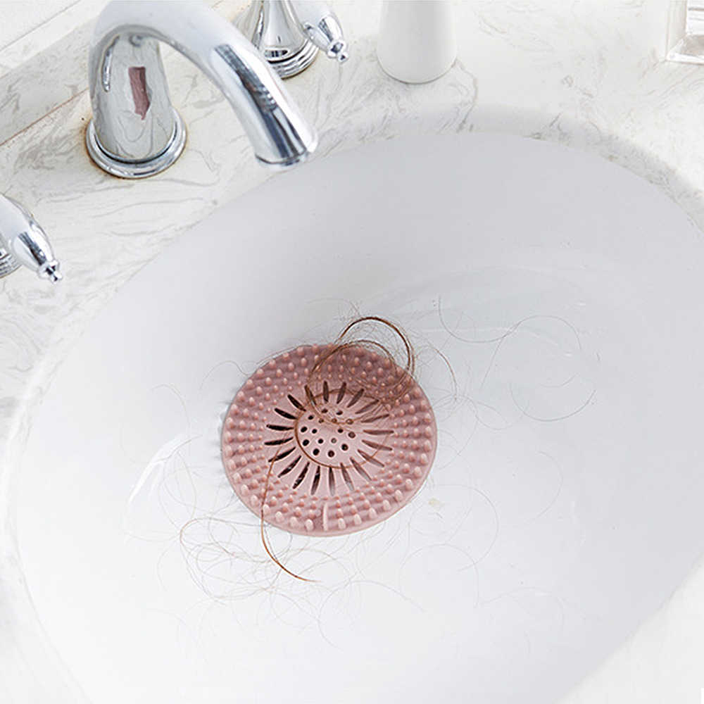 浴室シンクヘアフィルタ抗ブロッキング浴室プラグ下水道床ドレンストッパーキッチンドレインシンクストレーナーヘアキャッチャー