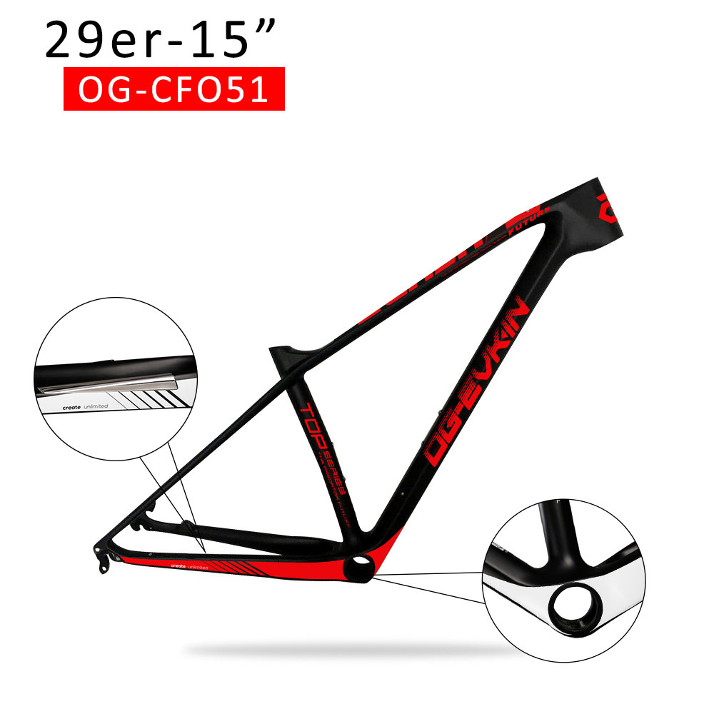 T1000 29er Carbon mtb Frame UD Mountain bike Frame UD Disc PF30 Matt Glossy Thru Axle 142X12 and QR 135X9mm  15 16 17 19 2017 new design iplay 29 full suspension frame carbon fiber 650b mtb frame 27 5er mountain bike frame ud matt 148 12mm thru axle