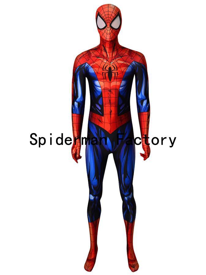 Spiderman Costume 3D Printing Fullbody Spiderman Superhero Cosplay Zentai Suit Halloween Party Bodysuit Custom Made