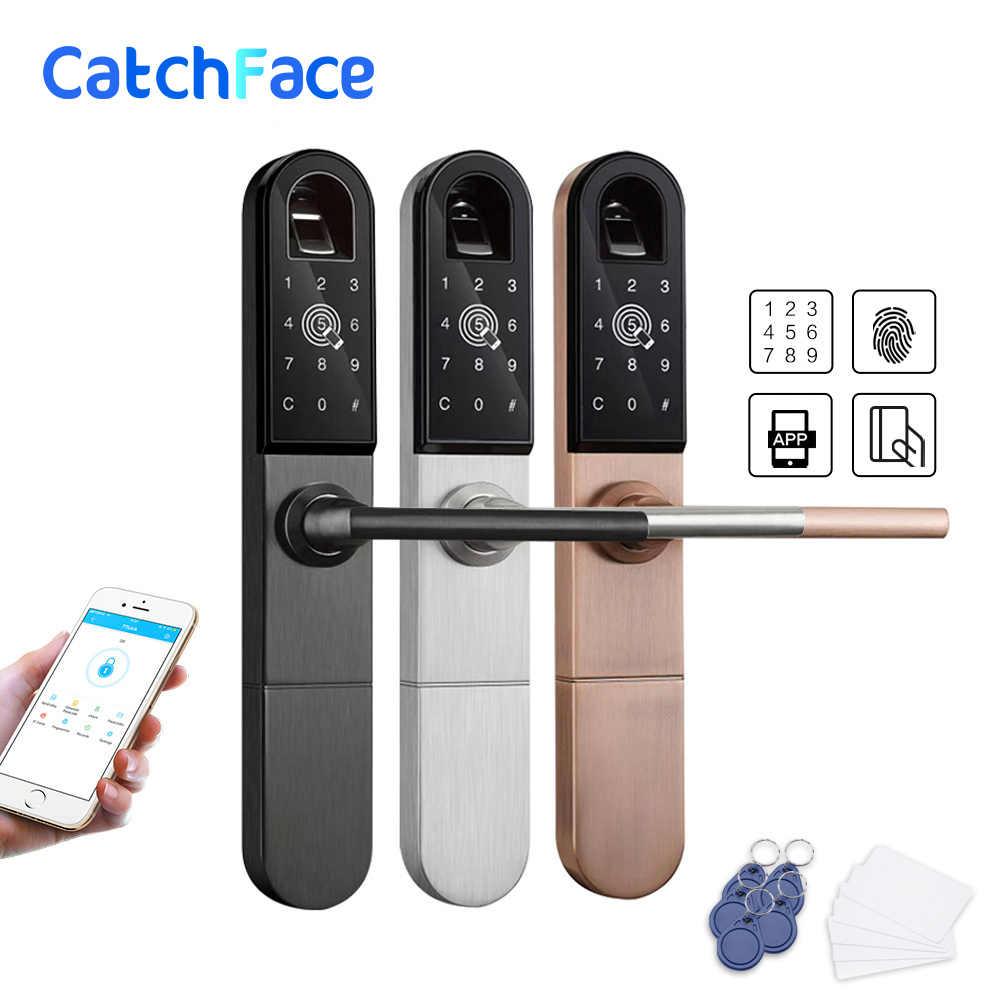 Europeo Bluetooth WiFi Biometrico di Impronte Digitali Serratura di Portello, Digitale Intelligente Serratura Elettronica Per scorrevole In Alluminio o porta battente