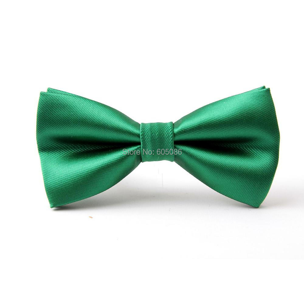 HOOYI Solid Green Bow Tie Butterfly For Men Necktie 2019 Accessories 12colors