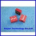 Frete Grátis 30 pcs 4 P 4 Posição do Interruptor DIP 2.54mm Afastamento 2 Row 8 Pin DIP Switch