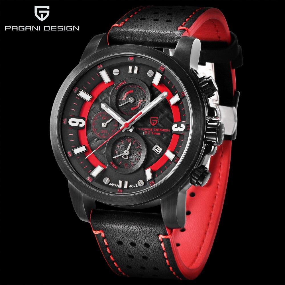 PAGANI Дизайн 2018 Топ люксовый бренд водостойкий кварцевые часы моды военные Для мужчин наручные часы обратного отсчета мужской Relogios