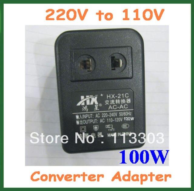 Conversor de voltagem 100 W 220 V a 110 V Plug EUA AC Tomada 220 V a 110 V Tensão adaptador Transformador