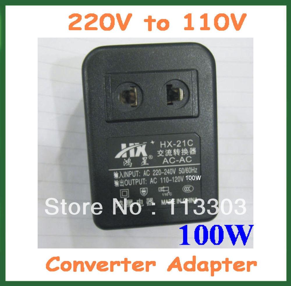 Voltage Converter 100W 220V to 110V US Plug AC Socket Power 220V to ...