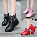fashion 1 pair   genuine leather boots winter boots princess shoes plus velvet boots