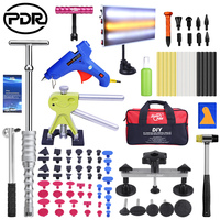 PDR Tools Kit For Car Paintless Dent Repair Tool Hail Dent Removal Kit Hand Tool Set Auto Dent Pullers Suction Cup Glue Gun