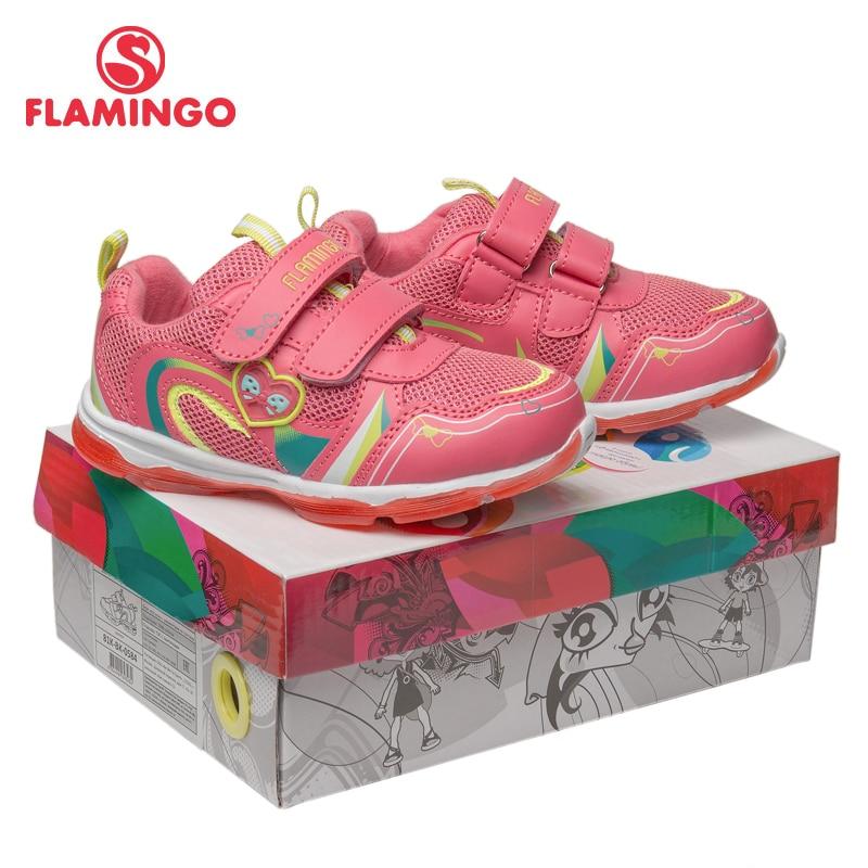 Кроссовки Фламинго для девочек 81K BK 0584, кожаная стелька, вид застежки липучка, подошва со светодиодами, для спорта и отдыха. - 6