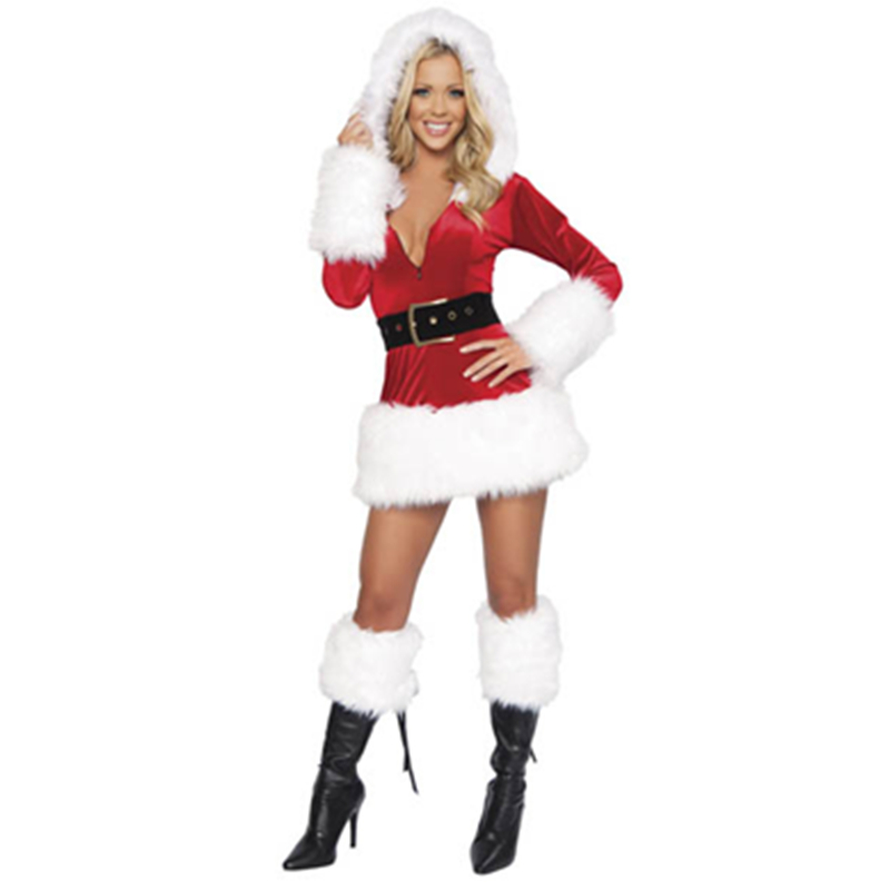 Good Holidays And Celebrations Latest Christmas Dresses Woman Christmas Halloween Dress Santa Claus Costumes L7016