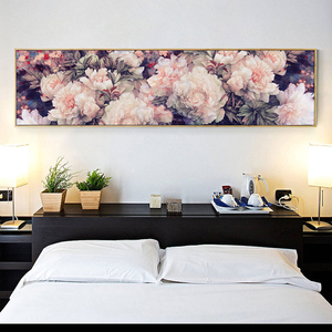 Image 1 - רקמה, DIY גדול צלב סטיץ סט עבור ערכת רקמה מלאה, לבן סגול עלה אדמונית פרח מודפס דפוס חתונה קיר תפאורה