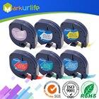 6 PCS/Lot for DYMO LetraTag Tape 91201 91202 91203 91204 91205 12267 LT Mix Color 4m*12mm for DYMO Label Printer