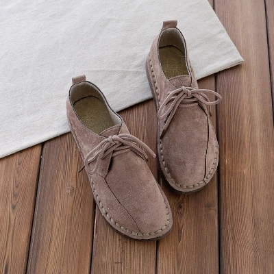 shoes shallow mouth low help flat bottom lace casual shoes