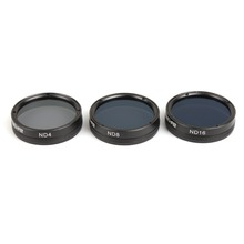 Snap on Filters Set 3Pcs ND4/8/16 Multi-layer Coating Lens Filter Kit for DJI Phantom 4 PRO / PRO+ Drone Accessories
