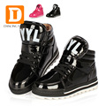 New 2017 Fashion Martin Boots Patent Leather Spring Children Shoes Plush Warm Shoes Winter Boy Girl Snow Boot Kids Sneaker 431