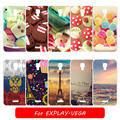 For Explay Vega Luxury Diy Case Painted Tower Flower Cartoon Hard PC Mobile Phone Case for Explay Vega Cases cover Capa Fundas
