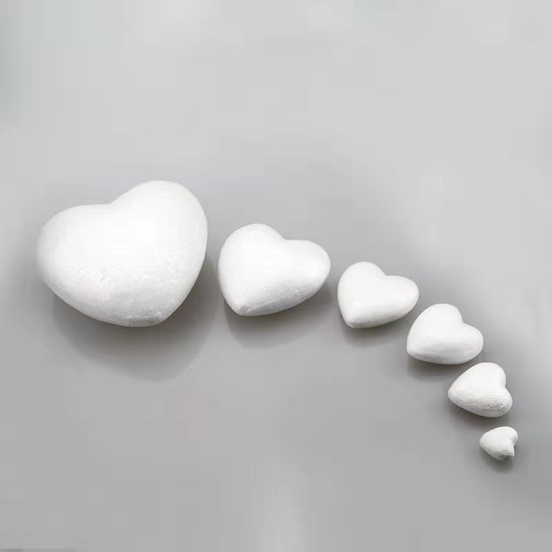 Polystyrene Styrofoam Foam Heart-shaped White Balls Handcraft  For Children/kids DIY Handmade Materials Educational Toys