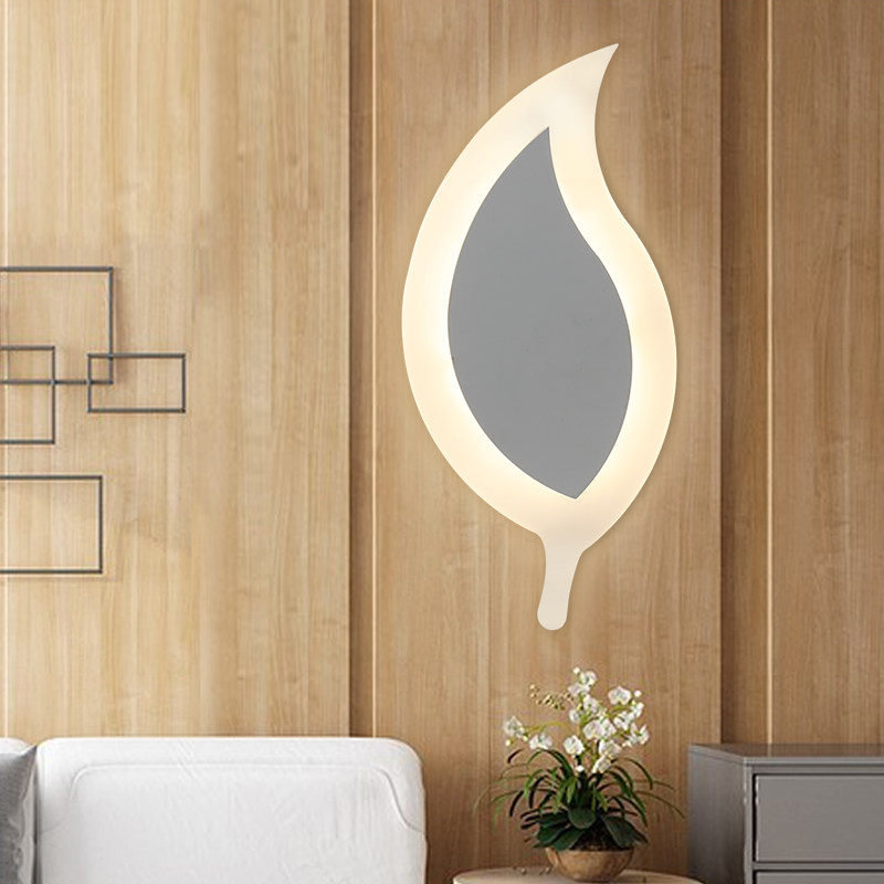 Modern LED tree leaf Wall Lamp For Bathroom Bedroom 12W 15W Wall Sconce White Lighting Lamp, Wall Light Indoor Lighting 110/220V contemporary led wall lamp with butterfly lampshade for bedroom foyer 15w wall sconce white warm white indoor lighting lamp