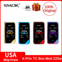 Original SMOK X-Priv Mod 225W TC/VW Vape Box Mod 2.0-inch HD screen Fits TFV12 Prince Tank For Electronic Cigarette x priv vape