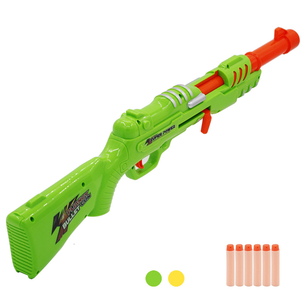 Soft Bullets Toy Gun Blaster Darts Safe Sucker Bullet Manual Shooting Submachine Gun Weapon Kids Outdoor Game CS Cosplay Toys