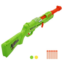 цена Soft Bullets Toy Gun Blaster Darts Safe Sucker Bullet Manual Shooting Submachine Gun Weapon Kids Outdoor Game CS Cosplay Toys в интернет-магазинах