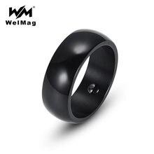 Магнитное гематитовое кольцо welmag для мужчин и женщин простое