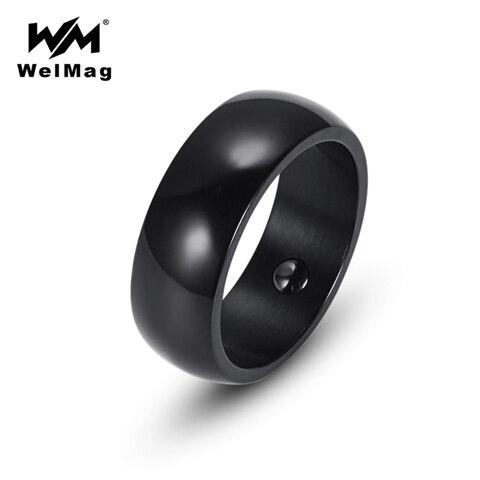 Купить магнитное гематитовое кольцо welmag для мужчин и женщин простое