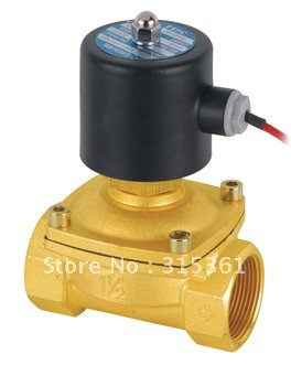 Free Shipping 2PCS 1.5 Electric Solenoid Valve Water Air N/O 220V AC Normally Open Type 2W400-40-NO free shipping 2pcs 1 1 4 electric solenoid valve water air n o 220v ac normally open type 2w350 35 no