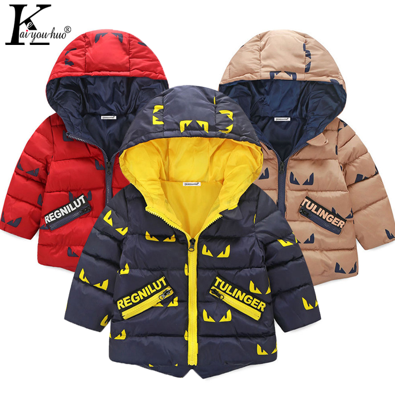 2018 Winter Jackets Boys Coats Down Jacket Outerwear Baby Boy Clothes Children Clothing Jacket For Girls Hooded Zipper Kids Coat все цены