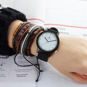 Image 3 - Alk Vision Mens Houten Horloge Mannelijke Hout Canvas Nylon Strap Eenvoudige Sport Quartz Horloge Vrouwen Dames Polshorloge 2018