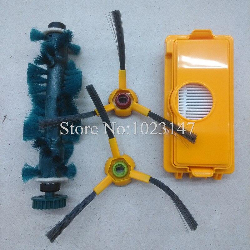1x Dust Filter 1x Agitator Brush 2x Side brush kit for Ecovacs Deebot Deepoo D73 D76